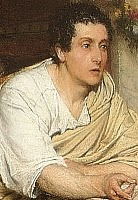 "Cropped from ""The Discourse"" by Sir Lawrence Alma-Tadema"